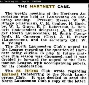 1931 11th Aug The Hartnett Case