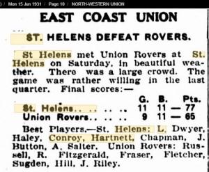 1931 15th June St Helens