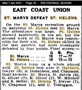 1931 1st June St Helens