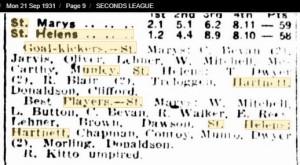 1931 21st Sept - St Helens