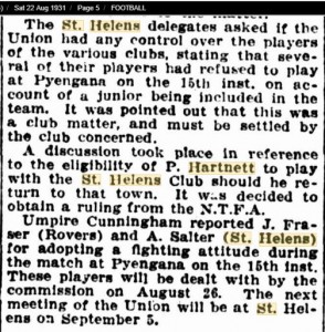 1931 22nd Aug St Helens