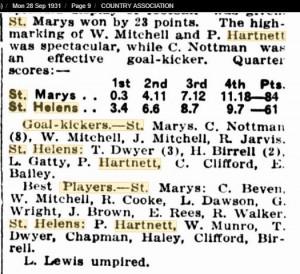 1931 28th Sept St Helens