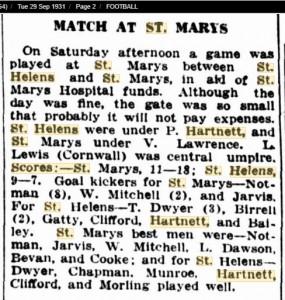 1931 29 Sept St Helens
