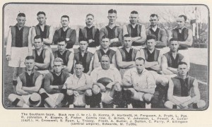 1932 South Team Photo Hartnett Pye Collier Edwards