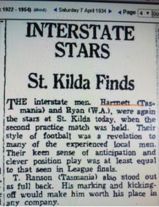 1934 Pats practice match form