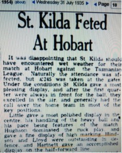 1935 Saints in Hobart